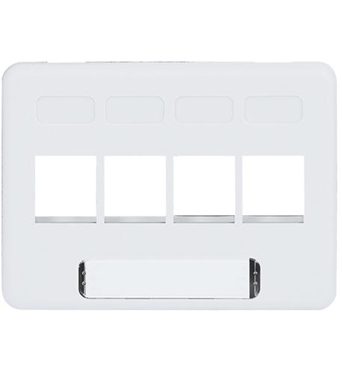 Picture of ICC-IC107FN4WH FACEPLATE, FURNITURE, NEMA, 4-PORT WHITE