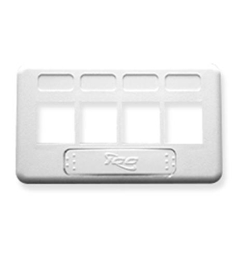 Picture of ICC-IC107FT4WH FACEPLATE, FURNITURE, TIA, 4-PORT, WHITE