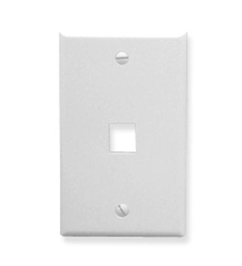 Picture of ICC-IC107LF1WH FACEPLATE, OVERSIZED, 1-PORT, WHITE