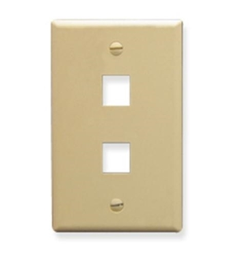 Picture of ICC-IC107LF2IV FACEPLATE, OVERSIZED, 2-PORT, IVORY