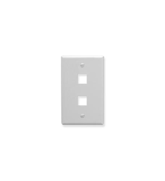 Picture of ICC-IC107LF2WH FACEPLATE, OVERSIZED, 2-PORT, WHITE