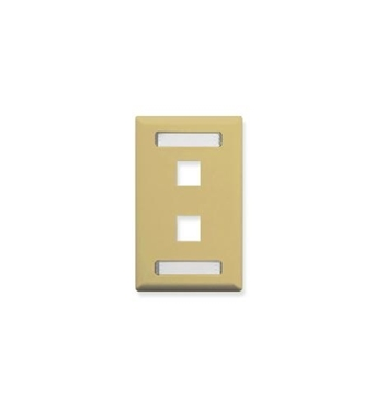 Picture of ICC-IC107S02IV FACEPLATE, ID, 1-GANG, 2-PORT, IVORY