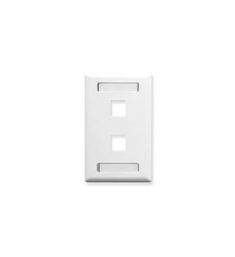 Picture of ICC-IC107S02WH FACEPLATE, ID, 1-GANG, 2-PORT, WHITE