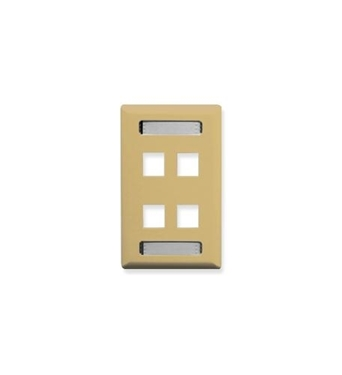 Picture of ICC-IC107S04IV FACEPLATE, ID, 1-GANG, 4-PORT, IVORY