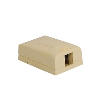 Picture of ICC-IC108SB1IV SURFACE MOUNT BOX, ELITE, 1-PORT, IVORY