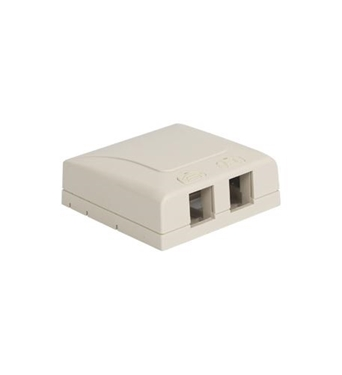 Picture of ICC-IC108SB2WH SURFACE MOUNT BOX, ELITE, 2-PORT, WHITE