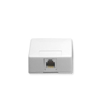 Picture of ICC-IC625SB6WH SURFACE MOUNT JACK, 6P6C, WHITE