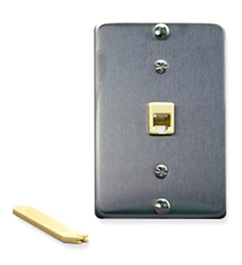 Picture of ICC-IC630DA6SS Wall Plate IDC 6P6C STAINLESS STEEL
