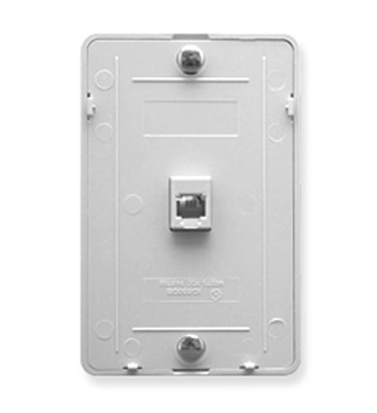 Picture of ICC-IC630DB6WH Wall Plate IDC 6P6C - White