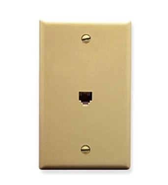 Picture of ICC-IC630E60IV WALL PLATE, VOICE 6P6C, IVORY
