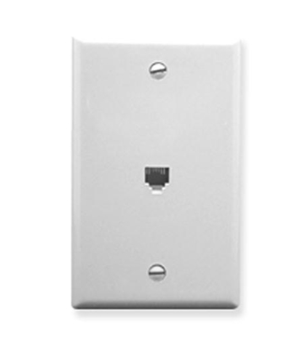 Picture of ICC-IC630E60WH WALL PLATE, VOICE 6P6C, WHITE