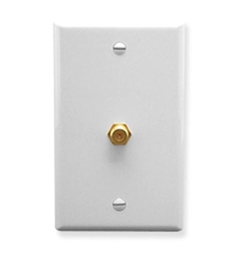 Picture of ICC-IC630EG0WH WALL PLATE, F-TYPE, WHITE