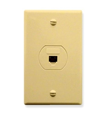 Picture of ICC-IC630S60IV WALL PLATE, DESIGNER, VOICE 6P6C, IVORY