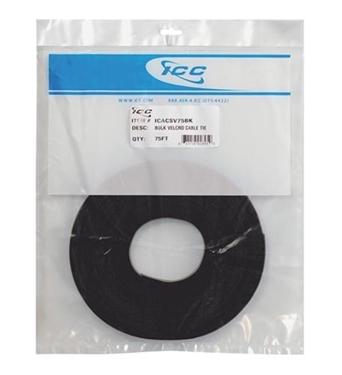 Picture of ICC-ICACSV75BK Velcro Tie Bulk 75ft - Black