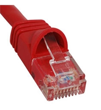 Picture of ICC-ICPCSJ01RD PATCH CORD, CAT 5e, MOLDED BOOT, 1' RD