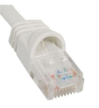 Picture of ICC-ICPCSJ01WH PATCH CORD, CAT 5e, MOLDED BOOT, 1' WH