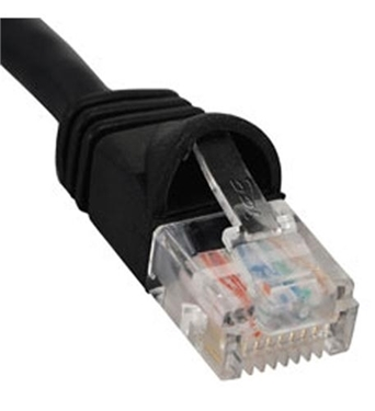 Picture of ICC-ICPCSJ03BK PATCH CORD, CAT 5e, MOLDED BOOT, 3' BK