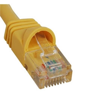 Picture of ICC-ICPCSJ03YL PATCH CORD, CAT 5e, MOLDED BOOT, 3' YL