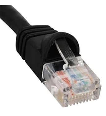 Picture of ICC-ICPCSK01BK PATCH CORD, CAT 6, BOOT, 1' BK
