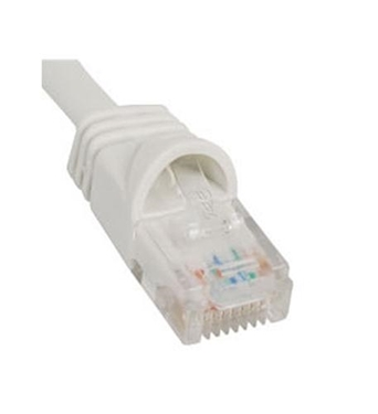 Picture of ICC-ICPCSK01WH PATCH CORD, CAT 6, BOOT, 1' WHITE