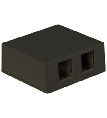 Picture of ICC-SURFACE-2BK IC107SB2BK SURFACE BOX 2PT BLACK
