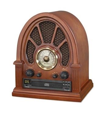 Picture of INN-VRS-1350 Vintage Wood CD Bluetooth Table Radio