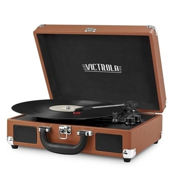 Picture of INN-VSC-550BT-COG Bluetooth Suitcase Turntable in Cognac