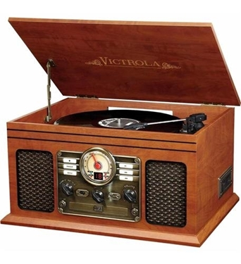 Picture of INN-VTA-200B-ESP 6-in-1 Victrola Entertainment Center