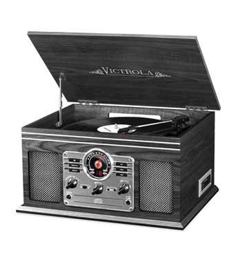 Picture of INN-VTA-200B-GRY 6-in-1 Victrola Entertainment Center