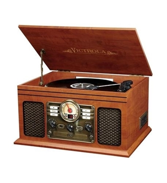Picture of INN-VTA-200B-MAH 6-in-1 Victrola Entertainment Center