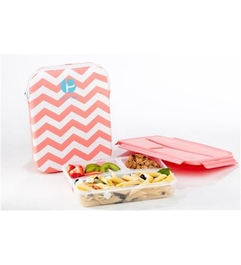 Picture of PRE-L1000348 Sleeved Lunch Container - Chevron