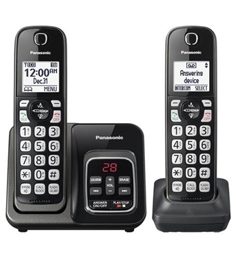 Picture of KX-TGD562M 2HS Cordless Telephone, ITAD, Met Black