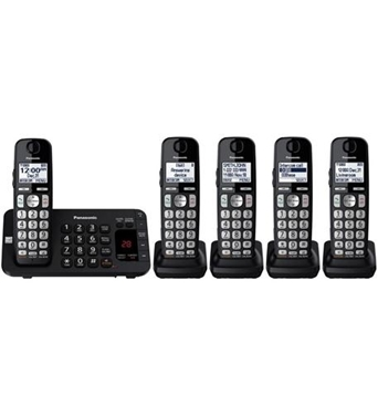 Picture of KX-TGE445B Cordless Phone with ITAD and 5 Handsets
