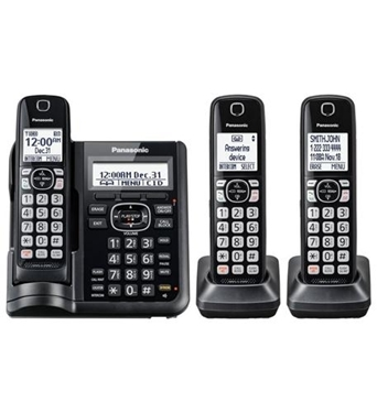 Picture of KX-TGF543B 3HS Cordless Telephone, ITAD, DK, Black