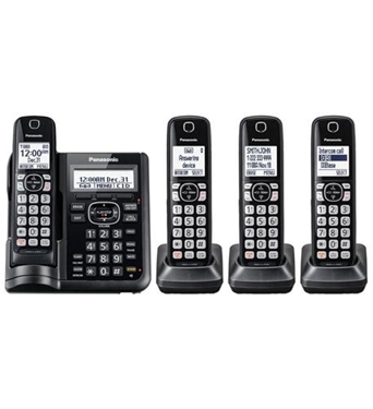 Picture of KX-TGF544B 4HS Cordless Telephone, ITAD, DK, Black