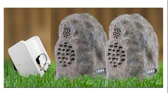 Picture of Audio Unlimited Spk-Rock 2 Duo 900MHz Wireless Indoor/Outdoor Rock Speaker with Dual Power Transmitter