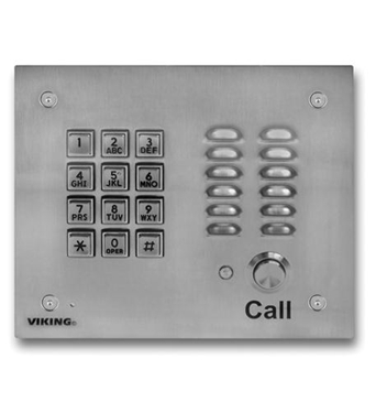 Picture of VK-K-1700-3 Handsfree Phone w/ Key Pad - Stainless