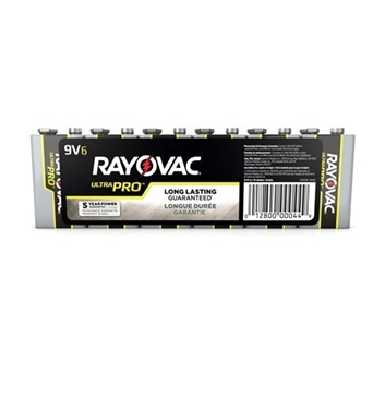 Picture of RAY-AL-9V Alkaline Shrink Wrapped 9V 6 Pack