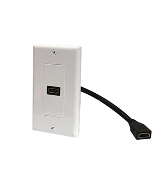 Picture of ST-526-101WH Standard HDMI Pigtail Wall Plate