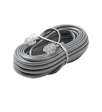 Picture of ST-306-015SL 6C 15' Silver Modular Line Cord