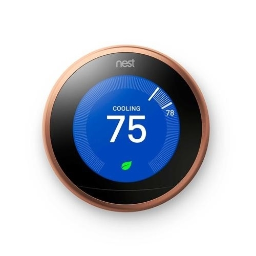 Nest T3021us Learning Thermostat 3rd Generation Copper