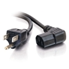 Picture of CABLES TO GO 18 AWG Universal Right Angle Power Cord-6ft,Black