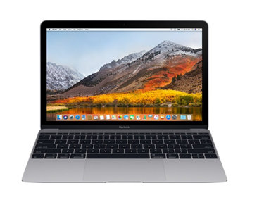 Picture of Apple MacBook 12in Laptop (MJY42LL/A), CORE M 1.3GHz 256 GB HD 8GB RAM 10.12.5 OS - USED