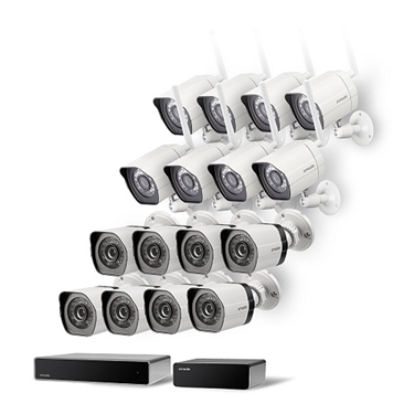 Picture of Zmodo 32 Channel Network NVR System 8 sPoE Camera+8 Wireless Camera IP HD Surveillance Camera System w/ sPoE Repeater