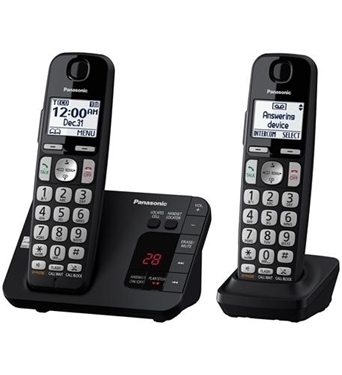 Picture of KX-TGE432B Exp. Cordless, Large Keypad, 2 HS, ITAD
