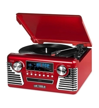 Picture of INN-V50-200-RED Bluetooth Stereo Turntable with CD