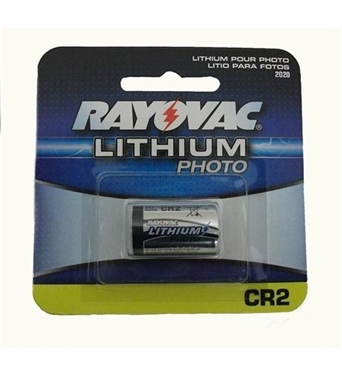 Picture of RAY-RLCR2-1 Rayovac CR2 battery, 3.0 Volt