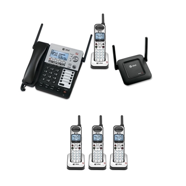 Picture of AT&T SB67138 SynJ 4-Line Extendable Range Corded-Cordless Phone System with 4 Extra Handsets and DECT 6.0 Range Repeater