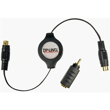 Picture of Cables Unlimited Zip-Audio-SVK ZipLinq Retractable S-Video Cable with RCA Adapter Kit