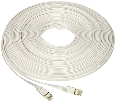 Picture of Nexhi CAT-7 Gigabit Ethernet UltraFlat Patch Cable, White 14 Feet
